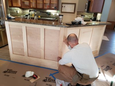 Cabinet Painting St Louis Island Wainscoting