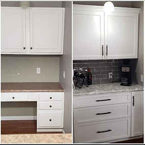Cabinet Refacing St. Louis MO - Before and After Desk Area 10